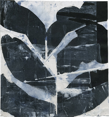 Untitled. Collage drawing with ink and acrylic on rice paper, © 2014 Graham White, artist